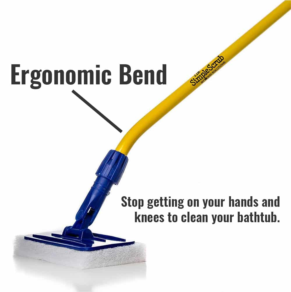 The Simple Scrub Original ergonomic bend diagram.